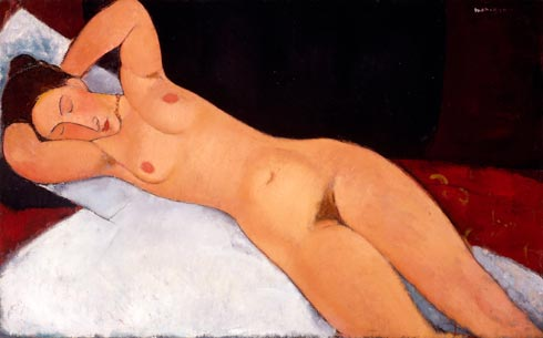 Amedeo Modigliani - Naakt - 1917