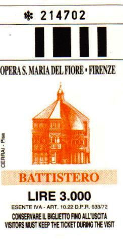 Battistero San Giovanni 02 (toegangsticket)