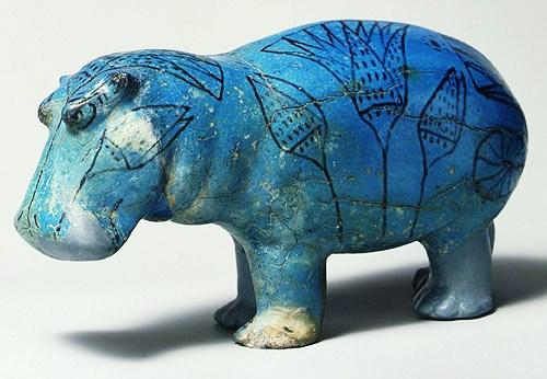 Beeld van een nijlpaard - 1990 V.C.