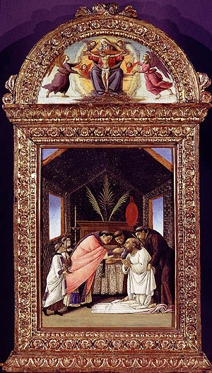 Botticelli - De laatste communie van Sint Hiëronymus - 1490