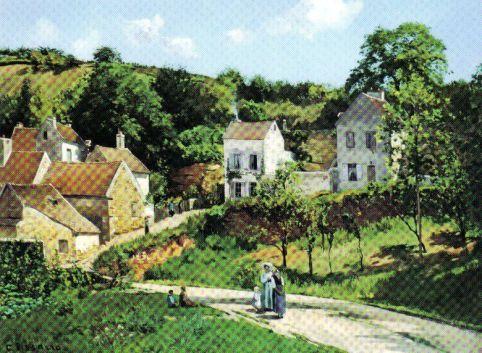 Camille Pissaro - Hermitage in Pontoise - 1867