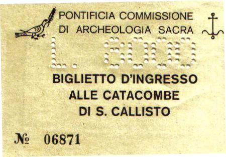 Catacomben van Sint-Callistus 01 (toegangsticket)