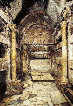 Catacomben van Sint-Callistus 06 (Crypte van de pausen)