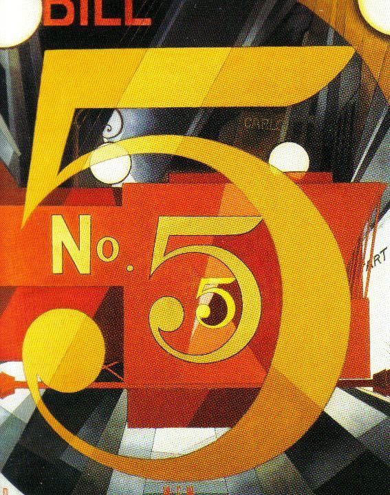 Charles Demuth - Figuur 5 in goud - 1928