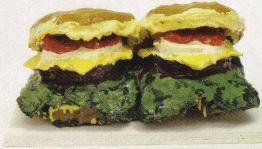 Claes Oldenburg - Twee cheeseburgers - 1962