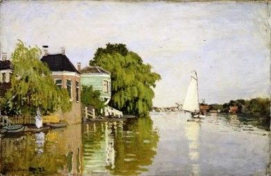 Claude Monet - Landschap in Zaandam - 1871