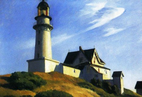 Edward Hopper - Vuurtoren met twee lichten - 1929