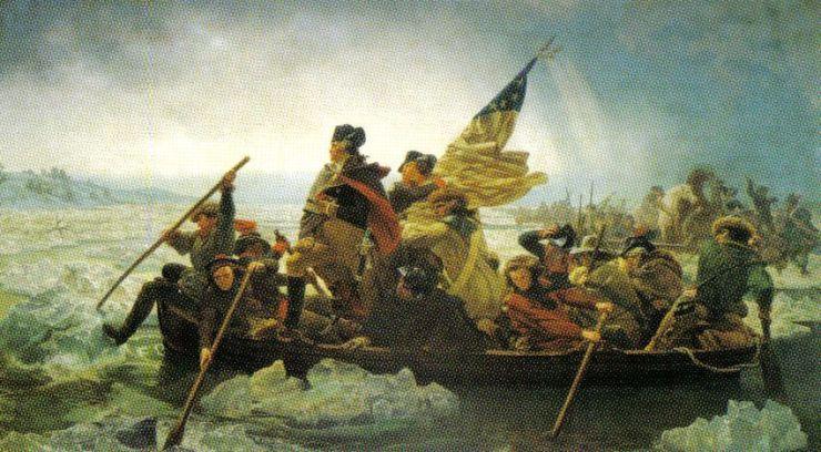 Emanuel Leutze - Washington vaart op de Delaware - 1851