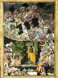 Fragment uit De legende van Krishna - 1592
