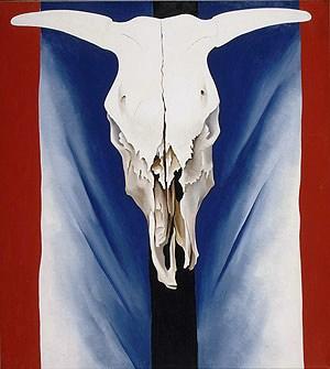 Georgia O'Keefe - Rood, wit en blauw - 1931