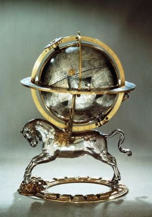 Gerhard Emmoser - Werledbol met klok - 1579