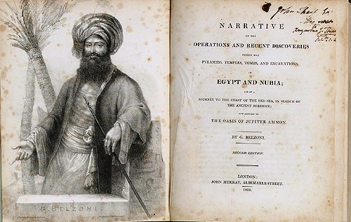 Giovanni Belzoni - Beschrijving van de monumenten van Egypte - 1820