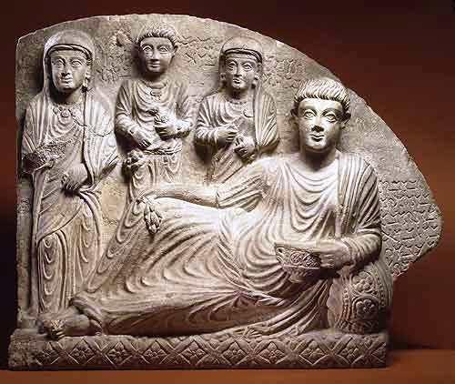 Grafsteen - Palmyra - 200 n.C.