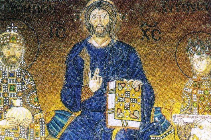 Haghia Sophia 13 (Christus geflankeerd door Constantijn IX en Zoë)