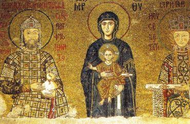 Haghia Sophia 16 (Keizer Johannes II Comnenus, Maria met Kind en keizerin Irene