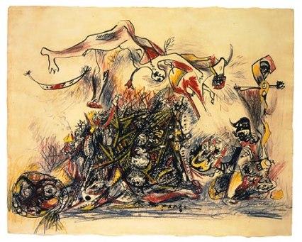 Jackson Pollock - Oorlog - 1947