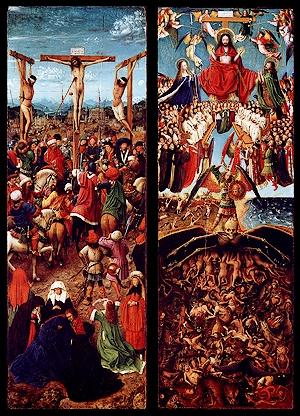 Jan Van Eyck - De kruisiging en het Laatste Oordeel - 1430