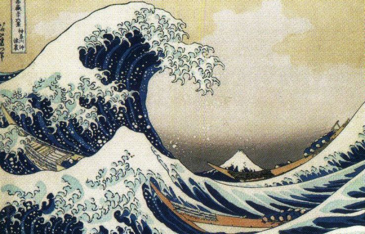 Katsushita Hokusai - De grote golf buiten Kanagawa
