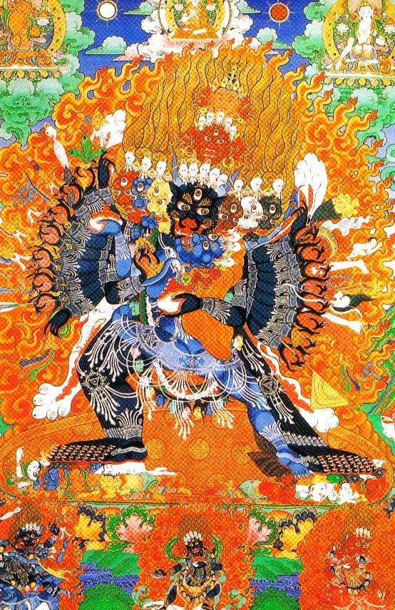 Lamatempel 10 (Yamantaka, diamant van macht en deugdzaamheid)