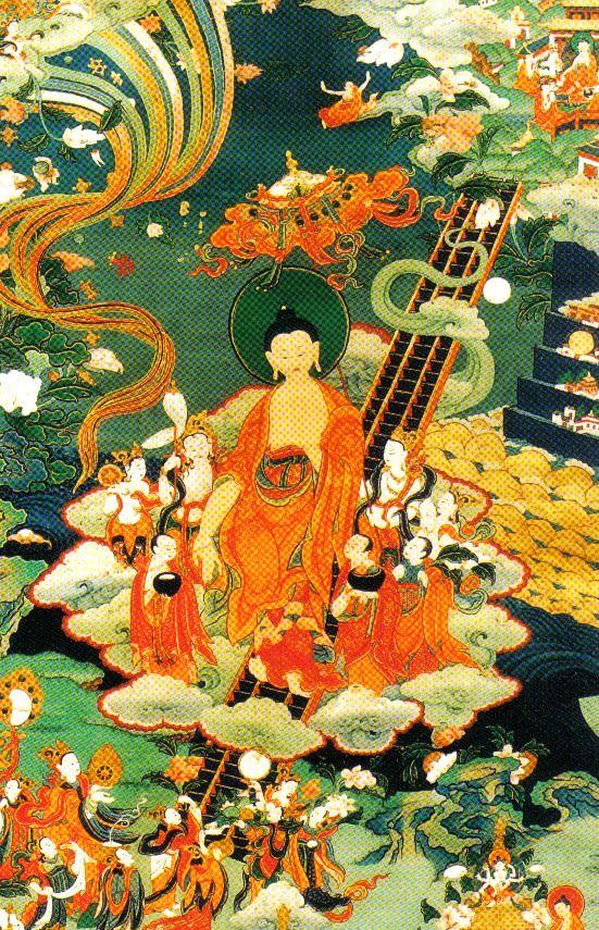 Lamatempel 11 (Boeddha Sakyamuni keert terug van de hemel naar de aarde)