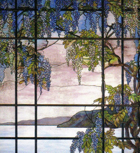 Louis Comfort Tiffany - Zicht op Oyster Bay - 1908