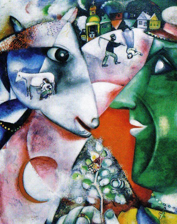 Marc Chagall - Ik en het dorp - 1911