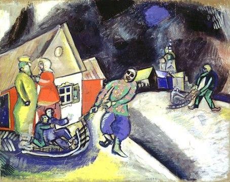 Marc Chagall - Winter in Vitebsk - 1911