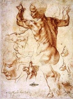 Michelangelo - Studie voor de sibylle