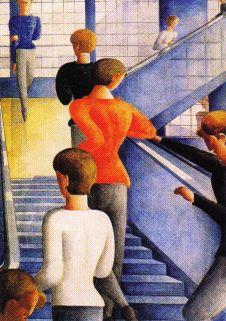 Oskar Schlemmer - Bauhaus Stairway - 1932