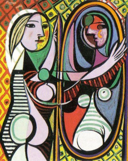 Pablo Picasso - Meisje en de spiegel - 1932