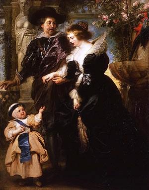 Peter Paul Rubens - Rubens, zijn vrouw en hun zoon - 1632