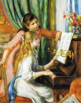 Pierre Auguste Renoir - Twee meisjes aan de piano - 1892