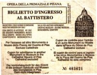 Pisa 03 (toegangsticket tot battistero)