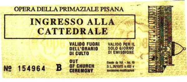Pisa 06 (toegangsticket tot duomo)
