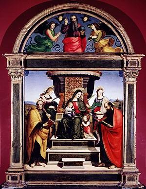 Raphaël - Madonna met Kind omringd door heiligen - 1504