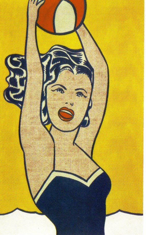 Roy Lichtenstein - Meisje met bal - 1961