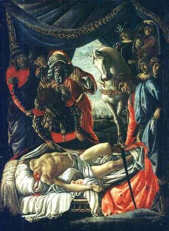 Uffizi 05 (Allessandro Botticelli - Ontdekking van het lichaam van Holofernes)