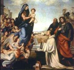 Uffizi 16 (Fra Bartolomeo - De Maagd verschijnt aan Sint Bernard)