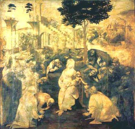 Uffizi 24 (Leonardo da Vinci - Adoration of the Magi)