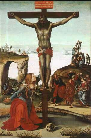 Uffizi 25 (Luca Signorelli - Kruisiging met Maria Magdalena)