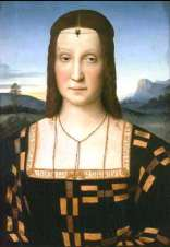 Uffizi 32 (Raphael - Portret van Elisabetta Gonzaga)