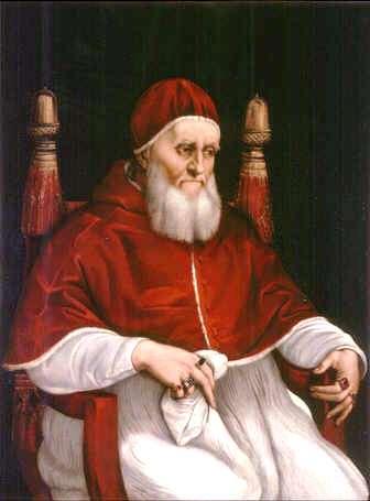 Uffizi 33 (Raphael - Portret van paus Julius II)