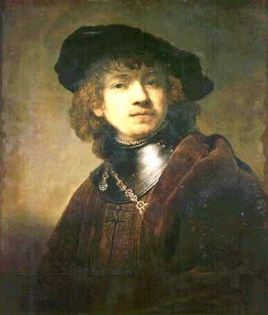 Uffizi 35 (Rembrandt van Rijn - Zelfportret als jonge man)