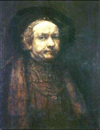 Uffizi 36 (Rembrandt van Rijn - Zelfportret als oude man)