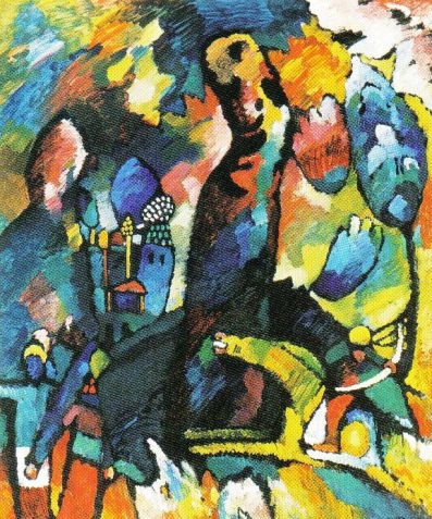 Vasily Kandinsky - Portret met een boogschutter - 1909