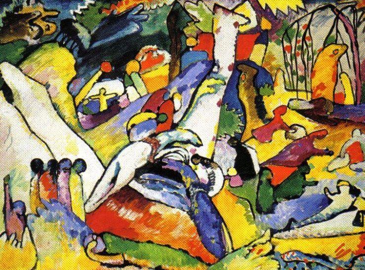 Vasily Kandinsky - Schets voor Kompositie II - 1909