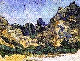 Vincent Van Gogh - Bergen in Saint-Rémy - 1889