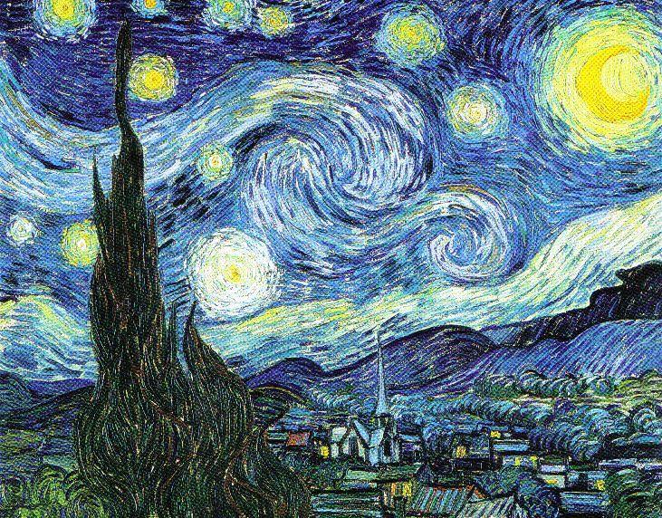 Vincent Van Gogh - De sterrennacht - 1889