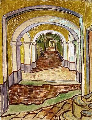 Vincent Van Gogh - Gang in het gekkenhuis