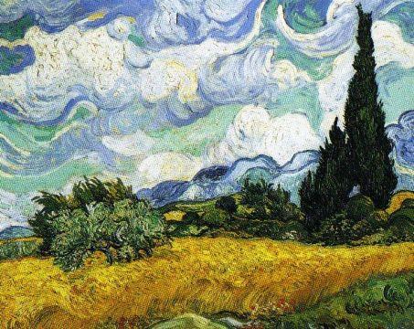 Vincent Van Gogh - Veld met cypressen